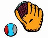 Guanto da baseball e pallina