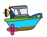 Disegno Imbarcazione pitturato su Erasmo996
