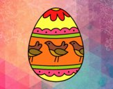 Uovo di Pasqua con uccellini