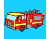 Pompieri sul camion