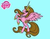 Disegno Principessa Celestia pitturato su cavallo