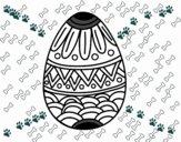 Uovo di Pasqua decorato con stampaggio
