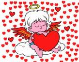 Cupido con cuore