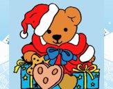 Orsacchiotto con il berretto di Natale