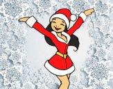 Ragazza Babbo Natale