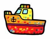 Disegno Yacht di lusso pitturato su luca2012