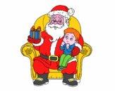 Babbo Natale e bambino di Natale