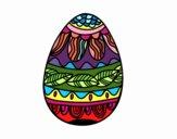 Uovo di Pasqua con motivo vegetale