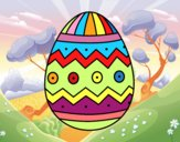 Uovo di Pasqua con stampe