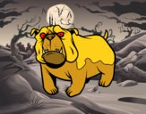 Disegno Cane bulldog inglese pitturato su mihaela