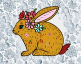 Disegno Coniglio primavera pitturato su mihaela