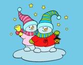 Due dambole natalizie