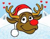 Faccia di renna Rudolph