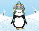 Pinguino bambino con il cappello