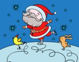 Babbo Natale pattinatrice