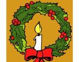 Corona augurale con una candela