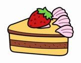 Disegno Torta di fragole pitturato su thebigvale