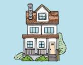 Casa a due piani con mansarda