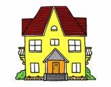 Casa con balconi