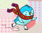 Piccolo uccelli pattinatore