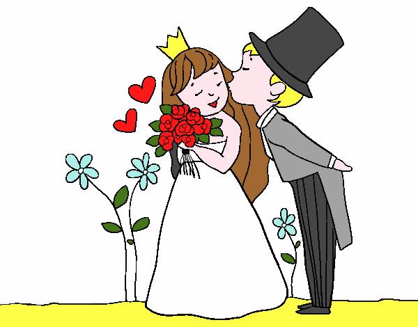 Disegno sposi principi colorato da utente non registrato for Disegno sposi