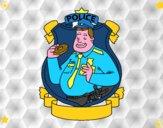 La polizia con la ciambella