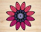 Mandala fiori con petali