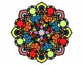 Disegno Mandala incontro pitturato su batizy