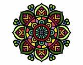 Disegno Mandala per la concentrazione mentale pitturato su batizy