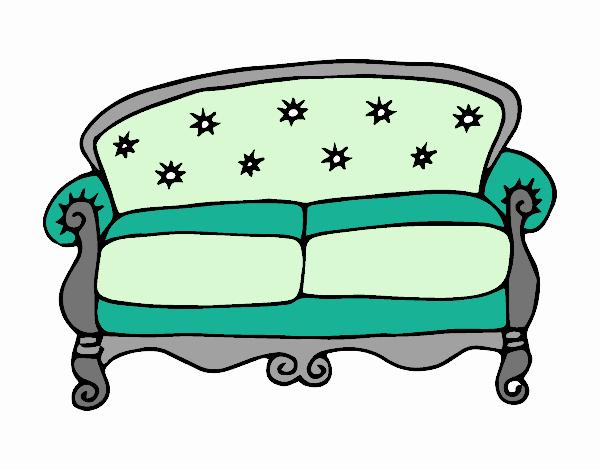 Disegno divano chesterfield colorato da utente non for Divano disegno