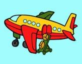 Aeroplano trasporto bagaglio
