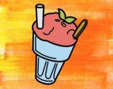 Disegno Frappè alla fragola pitturato su OnlyZyra