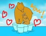 Mamma orso con il figlio