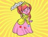 Principessa con parasole