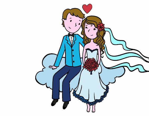Disegno sposi colorato da utente non registrato il 11 di for Disegno sposi