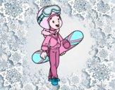 Una ragazza Snowboard