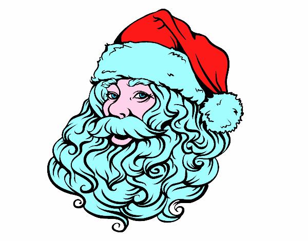 Disegno Faccia Di Babbo Natale Per Natale Colorato Da Utente Non