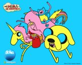 Finn e Jake con la principessa gommarosa