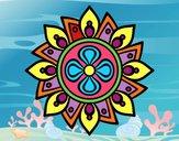 Mandala semplice fiore