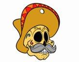 Teschio messicano con i baffi