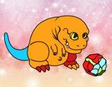 Tyrannosaurus Rex che gioca
