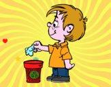 Bambino Riciclaggio carta