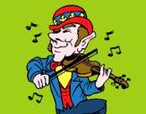 Folletto che suona il violino