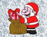 Babbo Natale che dà i regali