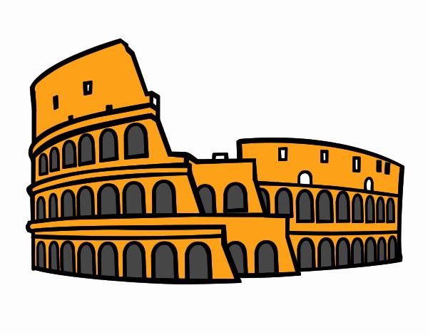 Disegno colosseo romano colorato da utente non registrato for Colosseo da colorare