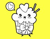 Cupcake kawaii con cappio