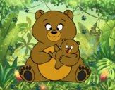 Mamma orsa e piccolo orso
