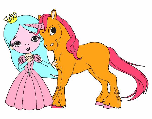 Disegno Principessa E Unicorno Colorato Da Utente Non Registrato Il