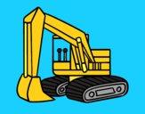 Una scavatrice