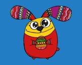 Coniglio di Pasqua con occhi sporgenti